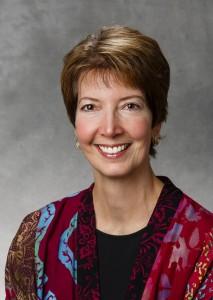 Studio portrait of Associate Professor of English Erika Scheurer. Taken October 7, 2014